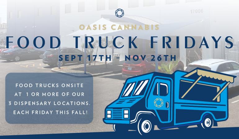 Food Truck Fridays at Oasis Cannabis